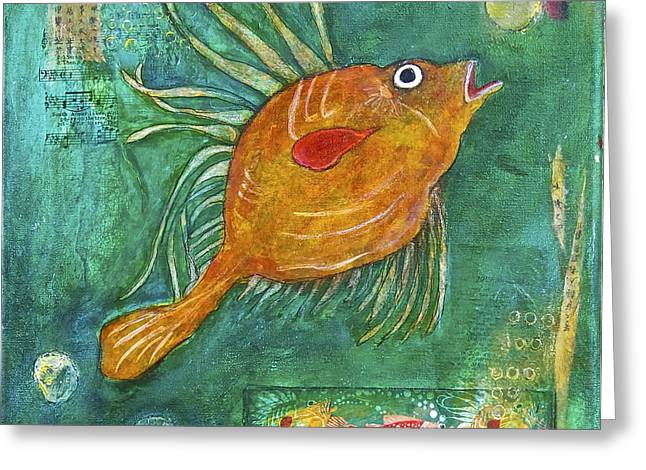 Asian Fish Greeting Card