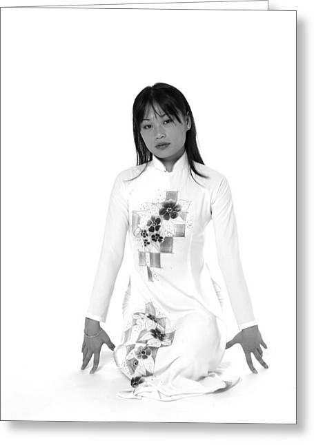 Greeting Card featuring the photograph Asian Girl by Bob Pardue