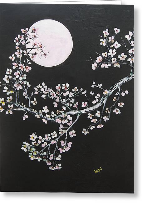 Asian Moon Greeting Card