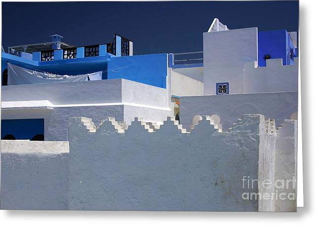 Greeting Card featuring the photograph Asilah Meaning Authentic In Arabic Fortified Town On Northwest Tip Of Atlantic Coast Of Morocco by Ralph A  Ledergerber-Photography