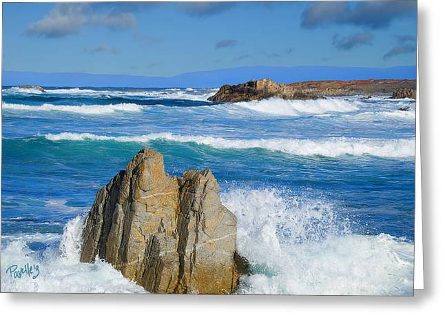 Asilomar Rollers - Asilomar State Beach Greeting Card by Jim Pavelle