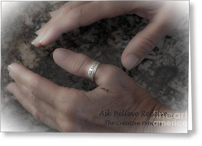 Ask Believe Receive Greeting Card by Bob Hislop