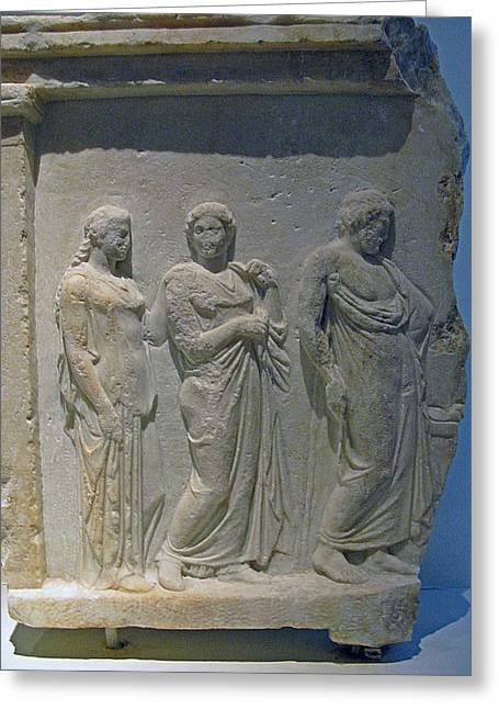 Asklepios With Hygeia Greeting Card by Andonis Katanos