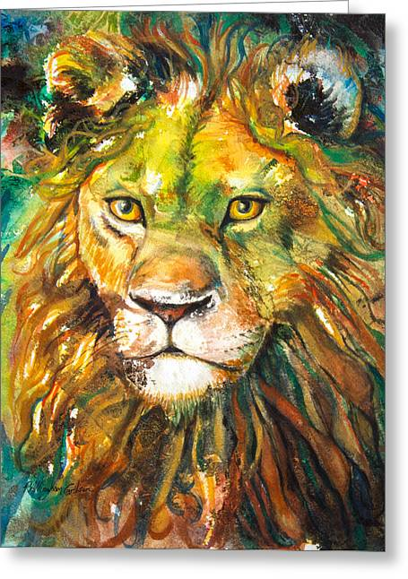 Aslan Greeting Card by Patricia Allingham Carlson