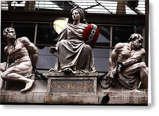 Asmterdam Statues Greeting Card by John Rizzuto