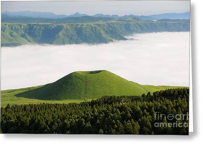 Greeting Card featuring the photograph Aso Komezuka Sea Of Clouds Cloud Kumamoto Japan by Paul Fearn