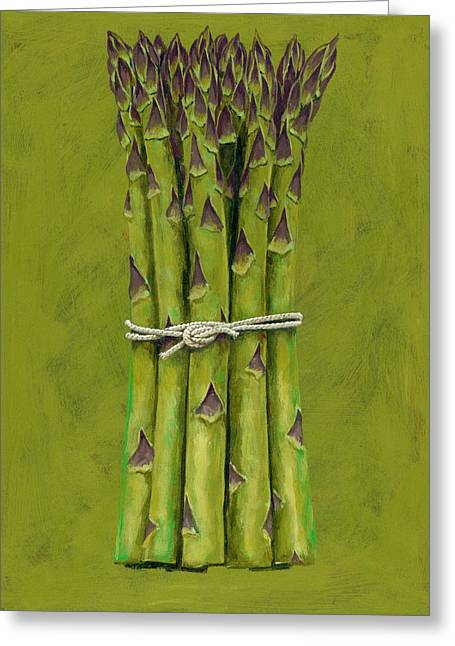 Asparagus Greeting Card by Brian James