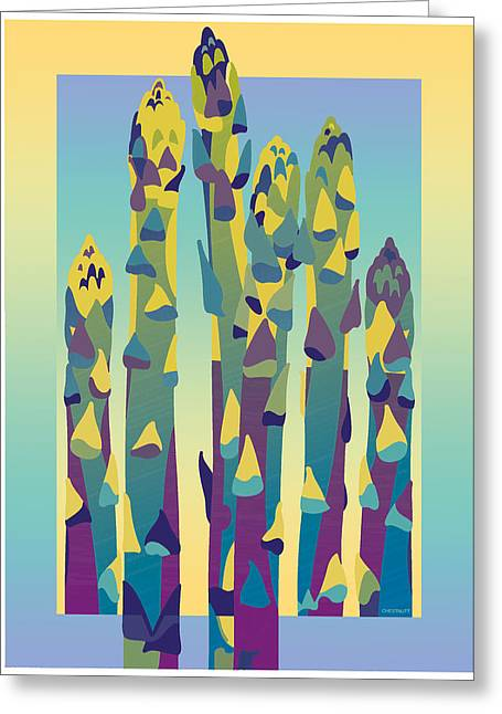 Asparagus Gradient Greeting Card