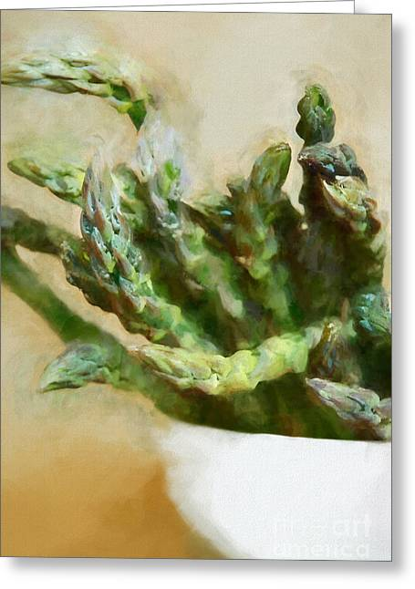 Asparagus Greeting Card by HD Connelly