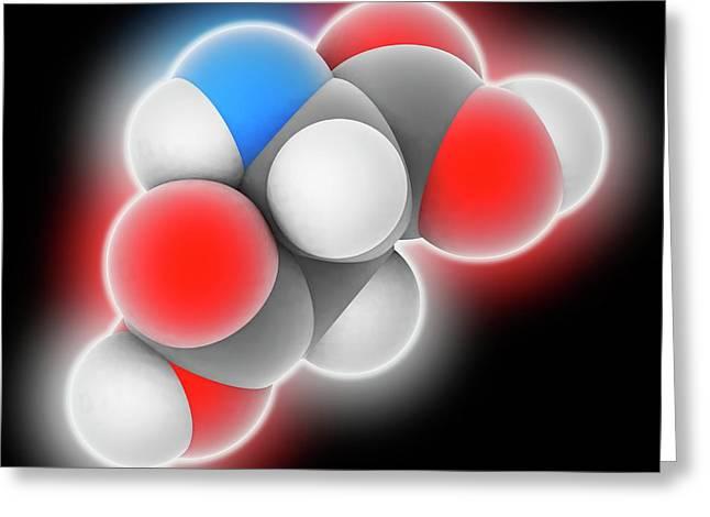 Aspartic Acid Molecule Greeting Card by Laguna Design