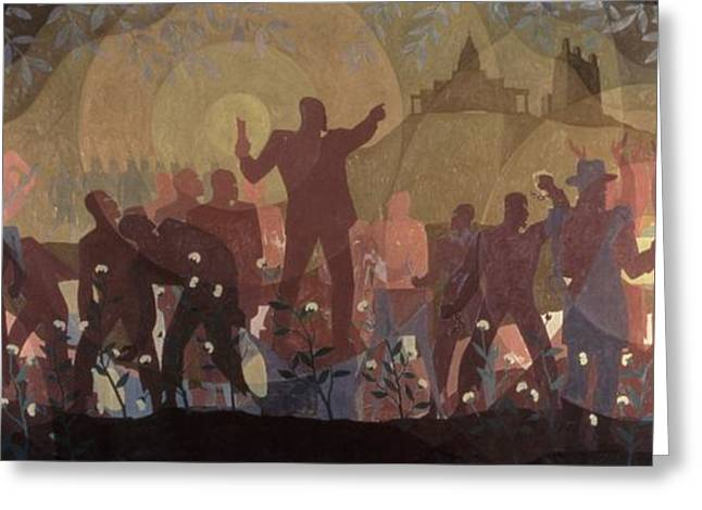 Aspects Of Negro Life Greeting Card by New York Public Library/aaron Douglas