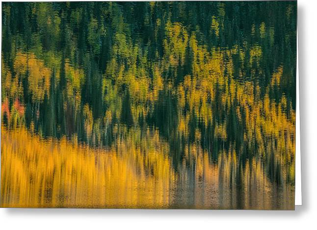 Greeting Card featuring the photograph Aspen Abstract by Ken Smith