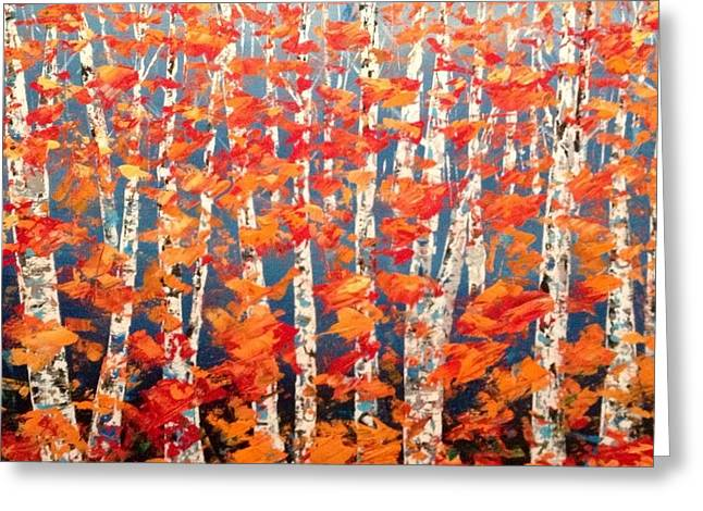 Aspen Abstract No. 2  Greeting Card
