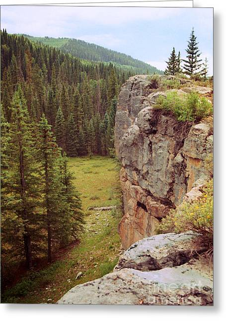 Greeting Card featuring the photograph Aspen Cliff by Teri Brown