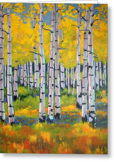 Aspen Color Greeting Card by Nancy Jolley