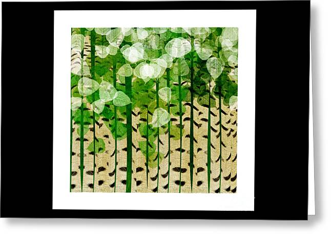 Aspen Colorado Abstract Square 2 Greeting Card