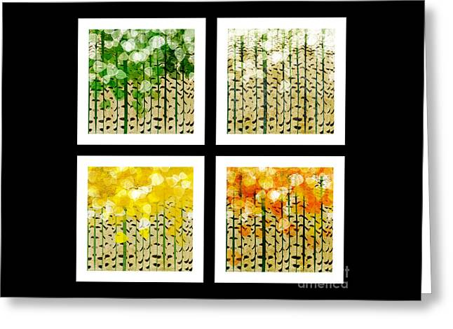 Aspen Colorado Abstract Square 4 In 1 Collection Greeting Card