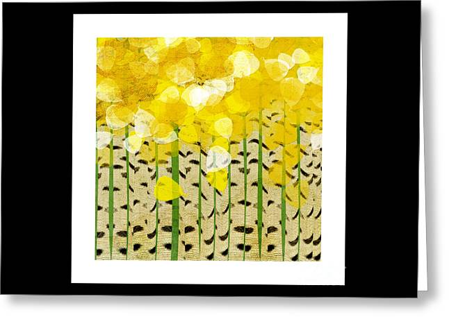 Aspen Colorado Abstract Square Greeting Card