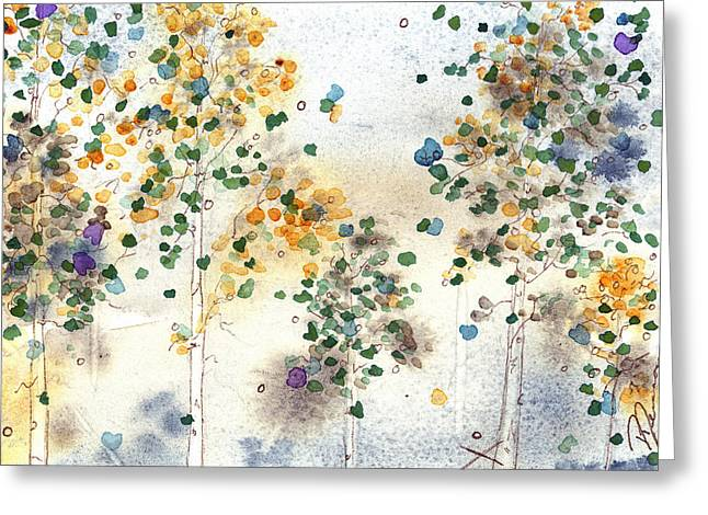 Aspen Grove Greeting Card by Dawn Derman