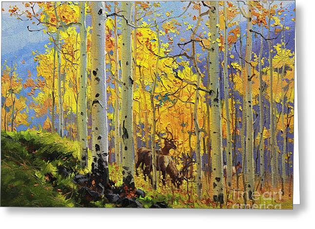 Aspen Kingdom Greeting Card by Gary Kim