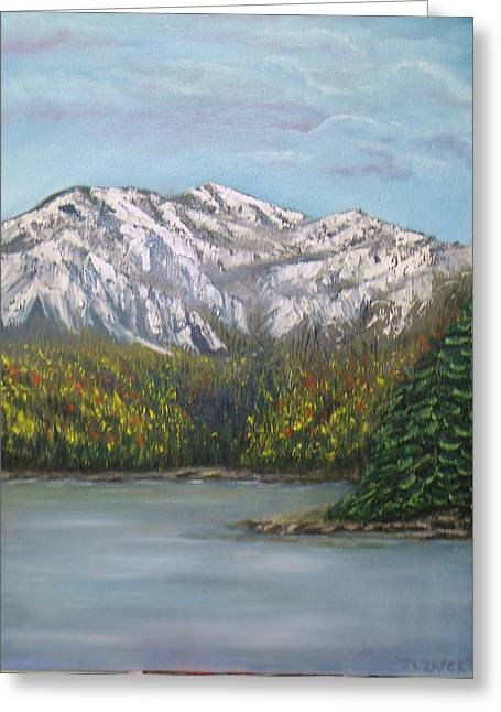 Aspen Lake Greeting Card by J L Zarek