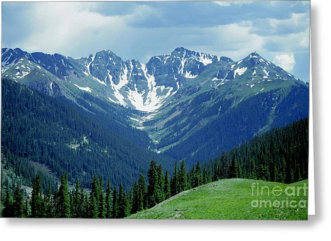 Greeting Card featuring the photograph Aspen Mountain by Arthaven Studios