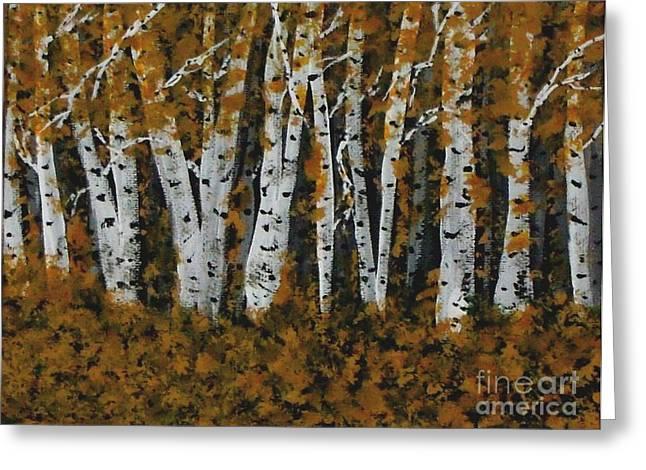 Aspen Trees Ablaze Greeting Card