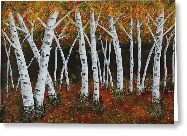 Aspens In Fall 1 Greeting Card by Melvin Turner