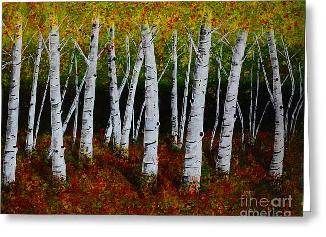 Aspens In Fall 2 Greeting Card by Melvin Turner