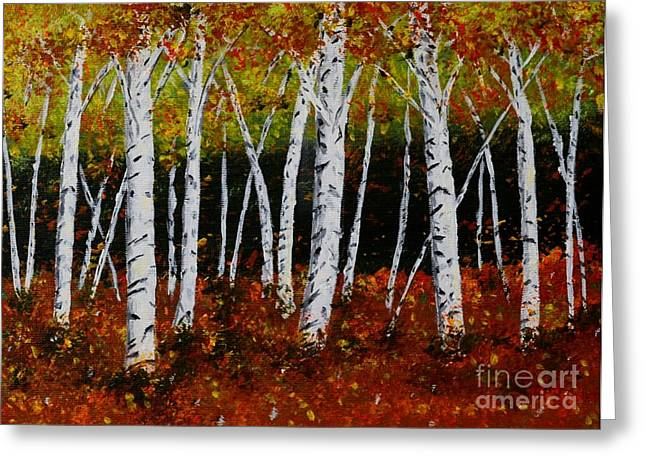 Aspens In Fall 3 Greeting Card by Melvin Turner