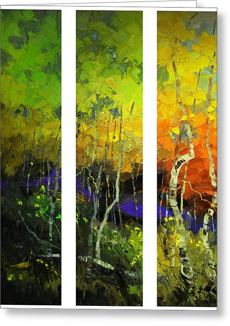Aspens In Season Greeting Card