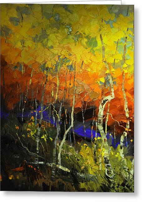 Aspens In The Fall Greeting Card by Rob Hemphill
