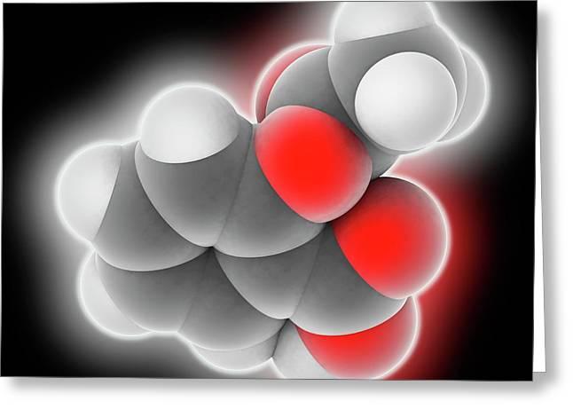 Aspirin Drug Molecule Greeting Card by Laguna Design