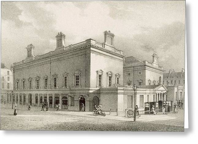 Assembly Rooms, Bath, Circa 1883 Greeting Card
