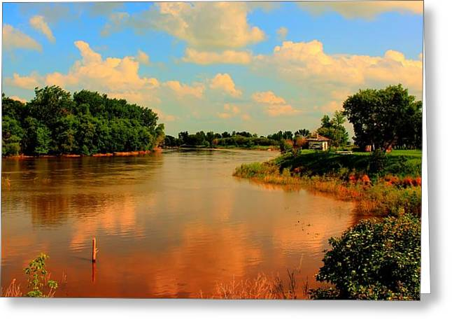 Assiniboine River Hdr Greeting Card