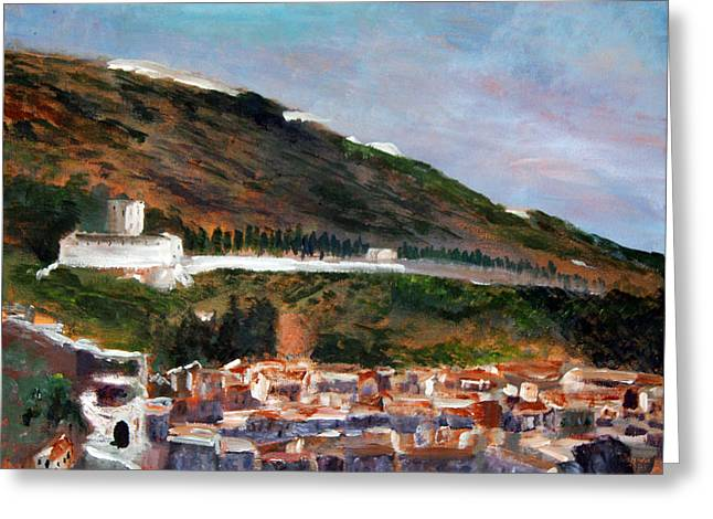 Assisi Hillside Greeting Card