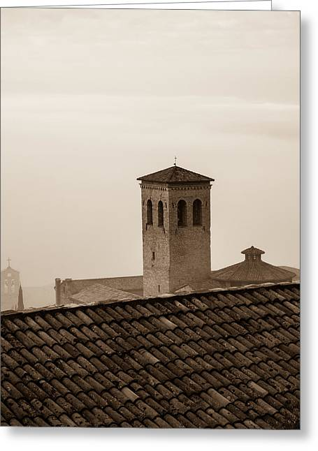 Assisi Rooftop In Morning Greeting Card by Rande Cady