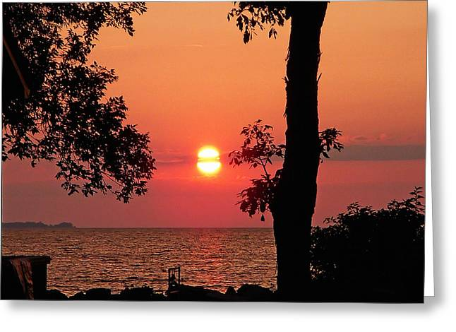 Association Island Sunset Greeting Card by Aimee L Maher Photography and Art Visit ALMGallerydotcom