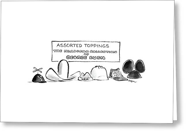 Assorted Toppings The Headgear Collection Greeting Card by Lee Lorenz