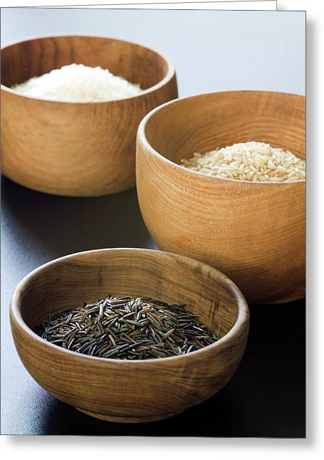 Assortment Of Rice Greeting Card by Gustoimages/science Photo Library