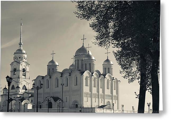 Assumption Cathedral In Vladimir Greeting Card by Panoramic Images