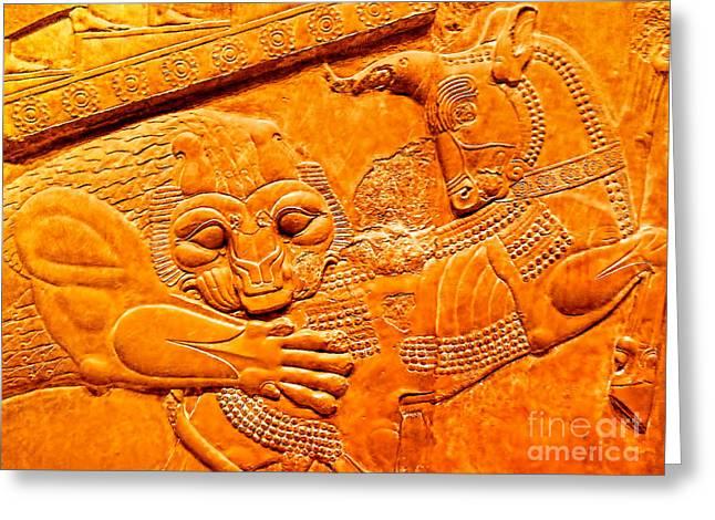 Assyrian Lion Greeting Card
