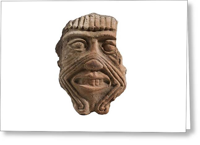 Assyrian Terracotta Mask Of Humbaba Greeting Card by Science Photo Library