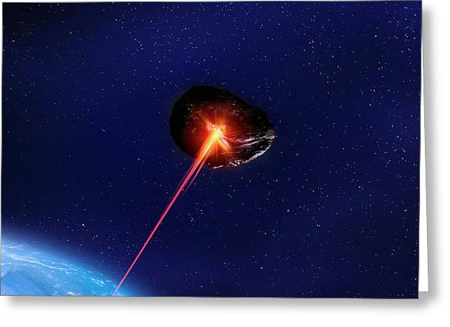 Asteroid Deflection Greeting Card by Richard Kail