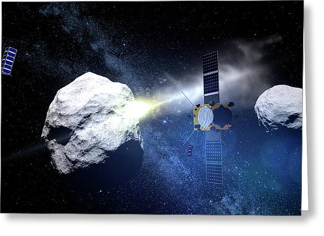 Asteroid Impact Mission Greeting Card by European Space Agency/scienceoffice.org