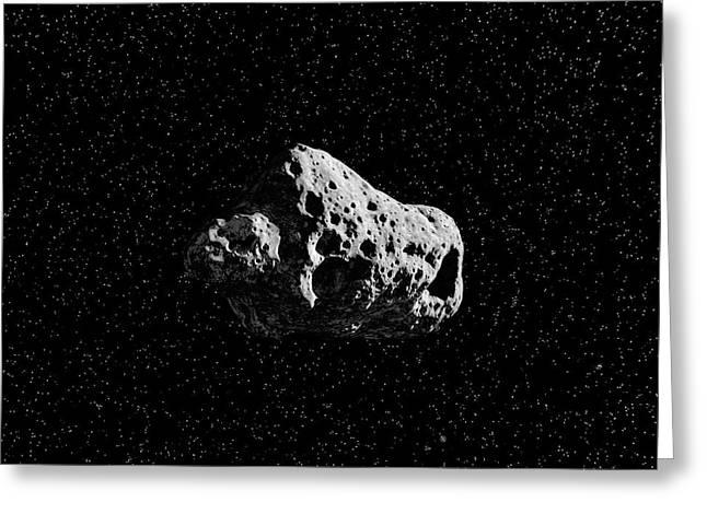 Asteroid Greeting Card by Juan Gaertner