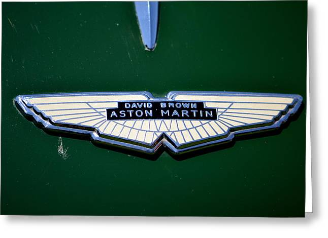 Aston Martin Badge Greeting Card