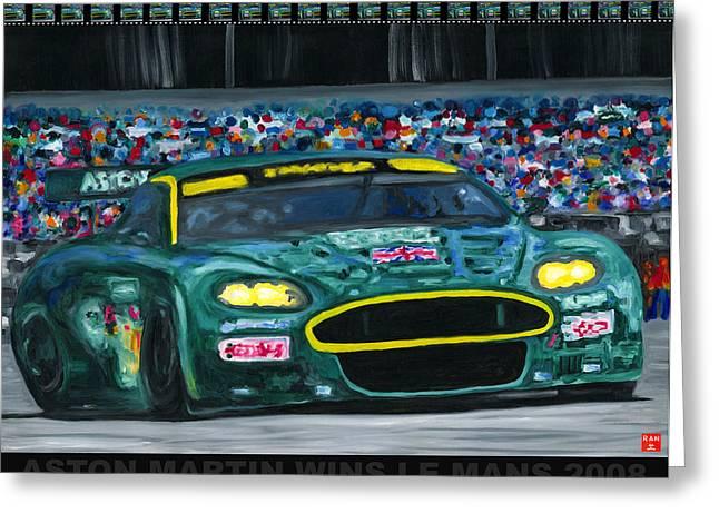 Aston Martin Wins Le Mans 2008 Pop Greeting Card