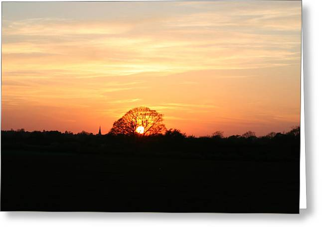 Aston Sunset Greeting Card