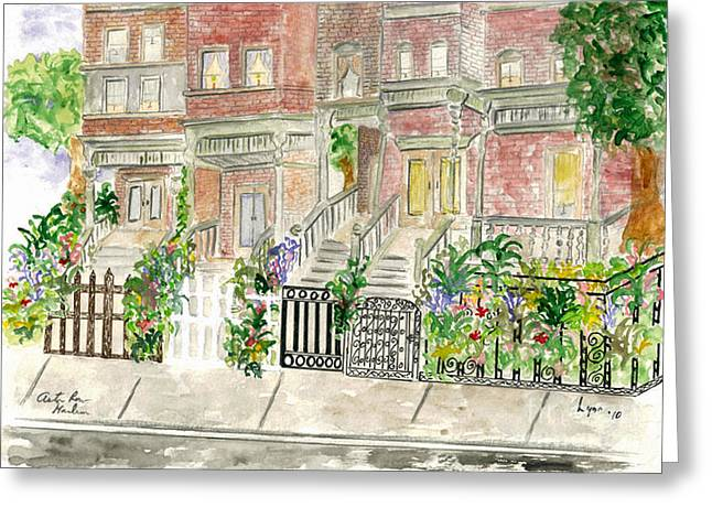 Astor Row In Harlem Greeting Card